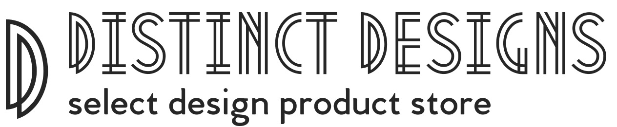 Distinct Design Logo with the slogan select design product store