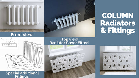 Distinct Designs Column Radiators Details and Fittings
