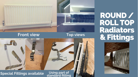 Distinct Desings Round Roll-top Radiators Details and Fittins