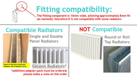 Distinct Designs Radiator Covers Standard Fittings and types of radiators