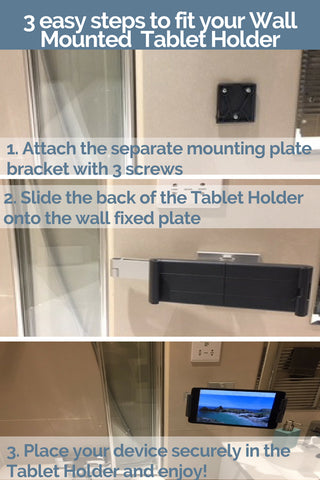 Distinct Designs Wall Mounted Tablet Holders Fittings instructions in 3 easy steps