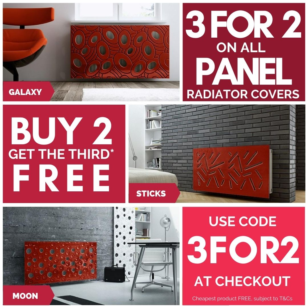 3 for 2 promotion on all Panle Radiator Covers