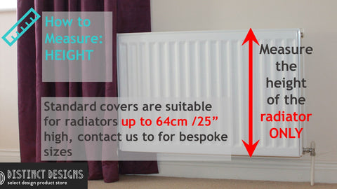 Measuring Instruction of Radiator Covers - measuring height of the radiator only
