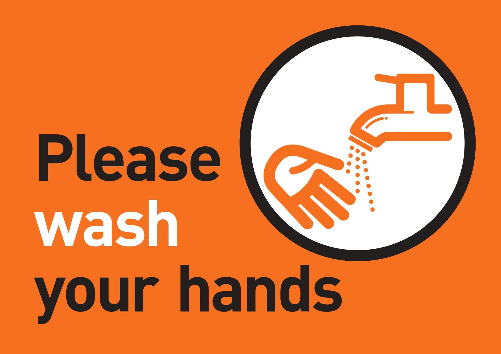 Please wash your hands FREE Sign Design