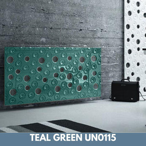 Custom-Made Removable Radiator Heater Cover ultramodern MOON Design in SATIN MATT Finish & Colours-Teal Green Satin-70x90cm-Distinct Designs (London) Ltd