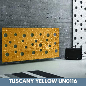 Custom-Made Removable Radiator Heater Cover ultramodern MOON Design in SATIN MATT Finish & Colours-Tuscany Yellow Satin-70x90cm-Distinct Designs (London) Ltd