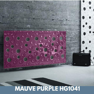 Custom-Made Removable Radiator Heater Cover with ultramodern MOON Design HIGH GLOSS Finish & Colours-Mauve Purple Gloss-70x70cm-Distinct Designs (London) Ltd
