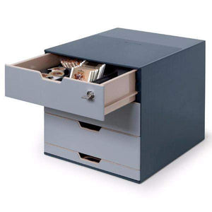 Handy 4 Drawer Tower Box Unit with Lockable Top Draw for optimal Study /Home Office storage-Distinct Designs (London) Ltd
