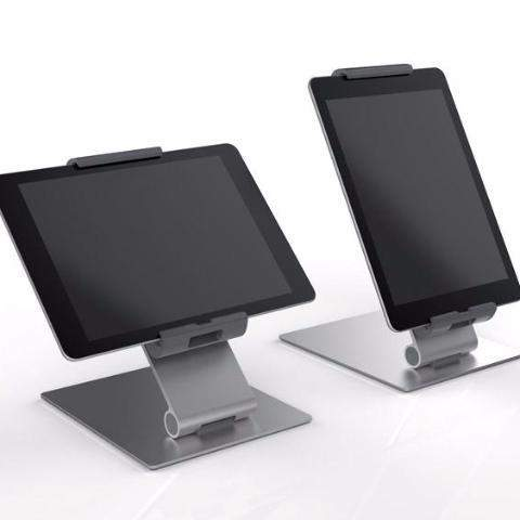 "Premium Quality Aluminium Desk Tabletop Stand with Adjustable 360° Rotatable Tablet Holder for 7-13""-Distinct Designs (London) Ltd"