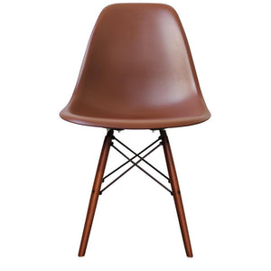 Classic Mid-Century Design Dining Office Brown Chair with braced Wooden Legs-Walnut-Distinct Designs (London) Ltd