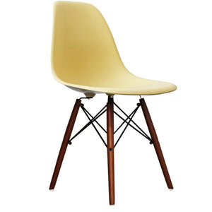 Classic Mid-Century Design Dining Office Sunshine Yellow Chair with braced Wooden Legs-Distinct Designs (London) Ltd