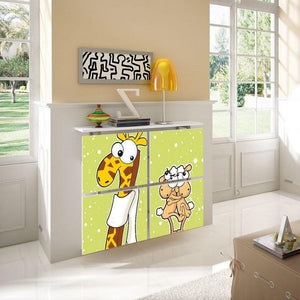 Children's Radiator Cabinet Cover CARTOON Giraffe Sheep design Kids Bedroom Nursery Playroom-75cm-40cm-Distinct Designs (London) Ltd