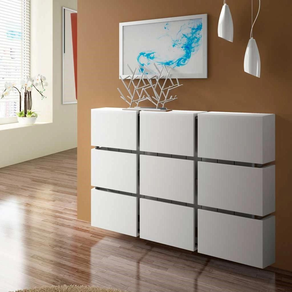 Contemporary Floating Radiator Heater Cabinet Cover 9 CUBES design with Integrate Shelf 70 to 180cm-75cm-70cm-Distinct Designs (London) Ltd
