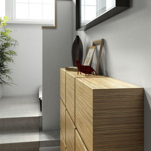 Contemporary Floating Radiator Heater Cabinet Cover 4 CUBES design with Integrate Shelf 40 to 120cm-Distinct Designs (London) Ltd