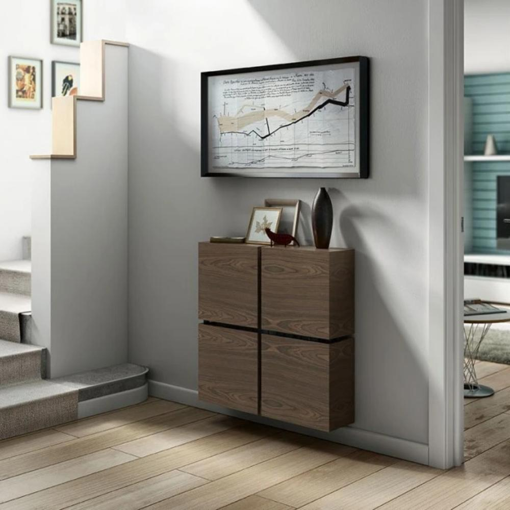 Contemporary Floating Radiator Heater Cabinet Cover 4 CUBES design with Integrate Shelf 40 to 120cm-75cm-40cm-Distinct Designs (London) Ltd