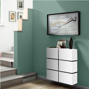Contemporary Floating Radiator Heater Cabinet Cover 6 CUBES design with Integrate Shelf 40 to 120cm-75cm-40cm-Distinct Designs (London) Ltd