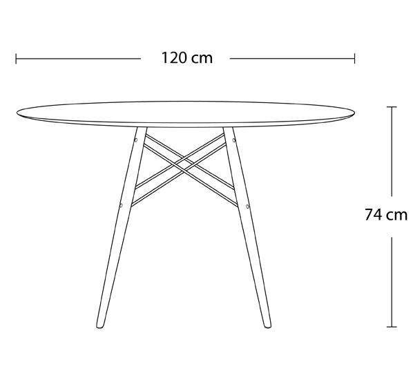 ... Dimensions Of Classic Mi Century Design Dining Office White Round 120cm  Diameter Dining Table Natural ...