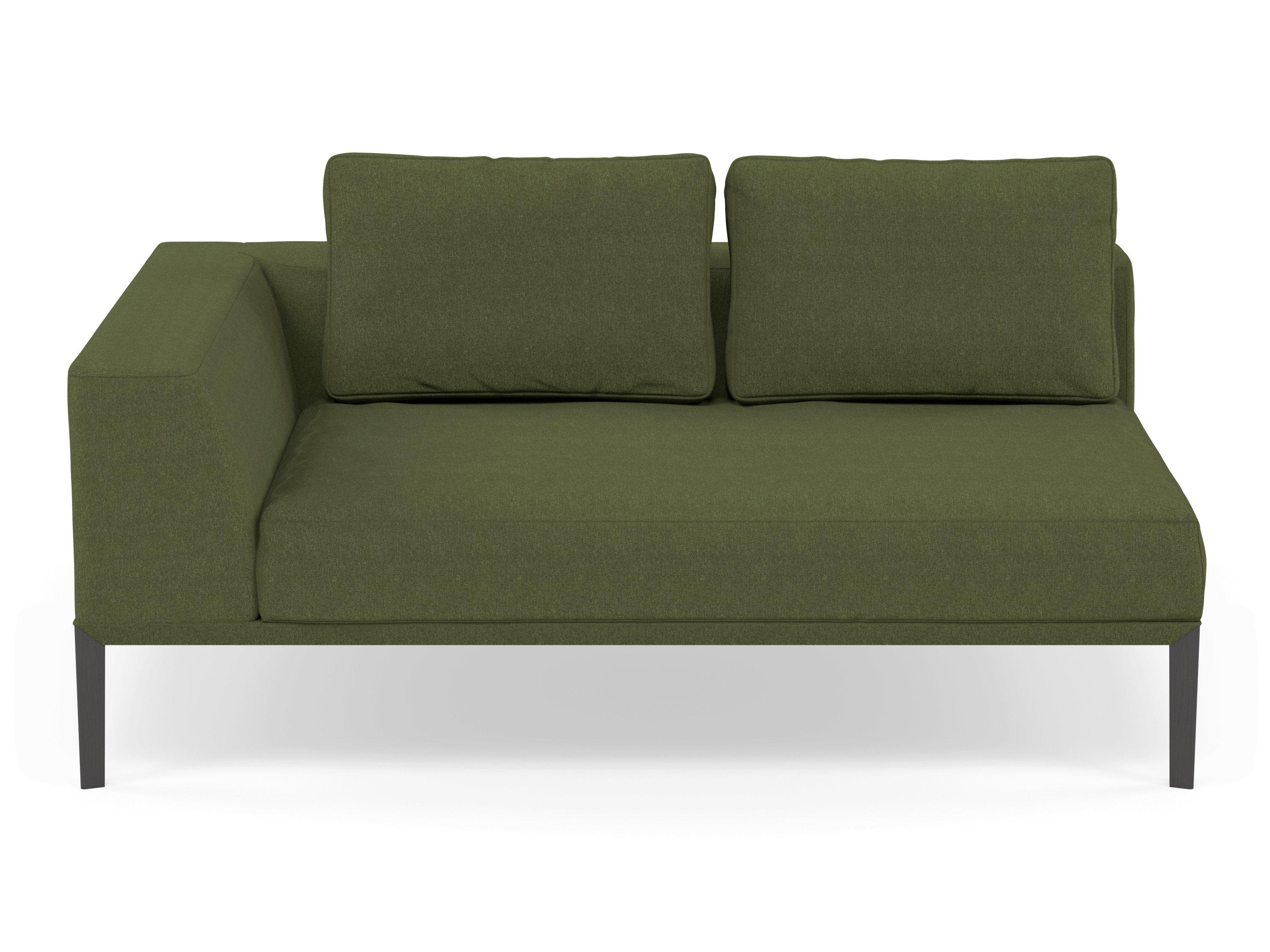 Tremendous Modern 2 Seater Chaise Lounge Style Sofa With Right Armrest In Seaweed Green Fabric Uwap Interior Chair Design Uwaporg