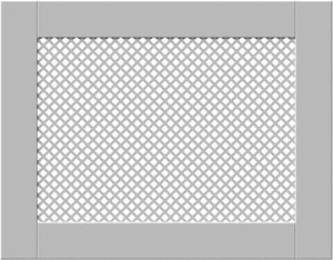 Elegant White Removable Radiator Heater Covers with Classic DIAMOND decorative grille screen panel-70x90cm-Distinct Designs (London) Ltd