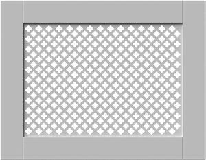 Elegant White Removable Radiator Heater Covers with Classic GEM decorative grille screening panel-70x90cm-Distinct Designs (London) Ltd
