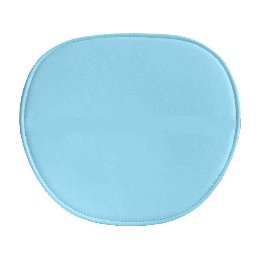 Classic Mid-Century Design Seat Cushion for Dining Office Chair in Sky Blue Faux Leather-Distinct Designs (London) Ltd