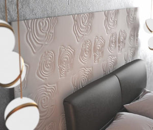 Decorative 3D Textured Feature Wall Panels with Subtle ROSE Design-Distinct Designs (London) Ltd