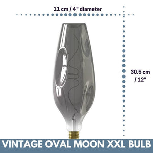 Decorative Vintage Oversized OVAL MOON LED Bulb for Display Table Desk Pendant Light Fixtures-XXL-Titanium-Distinct Designs (London) Ltd