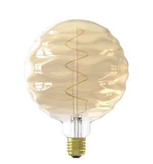 Vintage Oversized WAVE GLOBE LED Bulb for Display Table Desk Pendant Light Fixtures-XL-Gold-Distinct Designs (London) Ltd