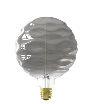 Vintage Oversized WAVE GLOBE LED Bulb for Display Table Desk Pendant Light Fixtures-XL-Titanium-Distinct Designs (London) Ltd