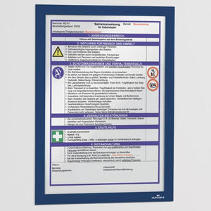 Versatile two-part A4 Display Frame with Self-Adhesive back and Magnetic flip-up front pack of 2-Dark Blue-Distinct Designs (London) Ltd