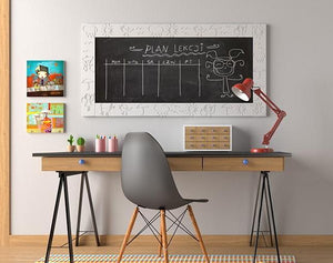 Distinct Kids Magnetic Blackboard chalkboard with CLOUDS frame for Children's Bedroom Playroom-Distinct Designs (London) Ltd