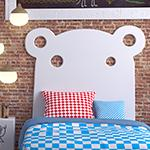 Distinct Kids HIPPO single bed decorative Headboard for Children's Bedroom Nursery Playroom-Distinct Designs (London) Ltd