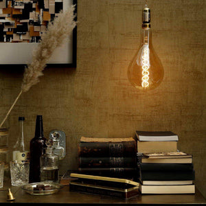 Vintage Oversized OBLONG LED Bulb for Display Table Desk Pendant Light Fixtures-XXL-Gold-Distinct Designs (London) Ltd