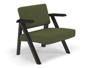 Classic Mid-century Design Armchair in Seaweed Green Fabric-Distinct Designs (London) Ltd