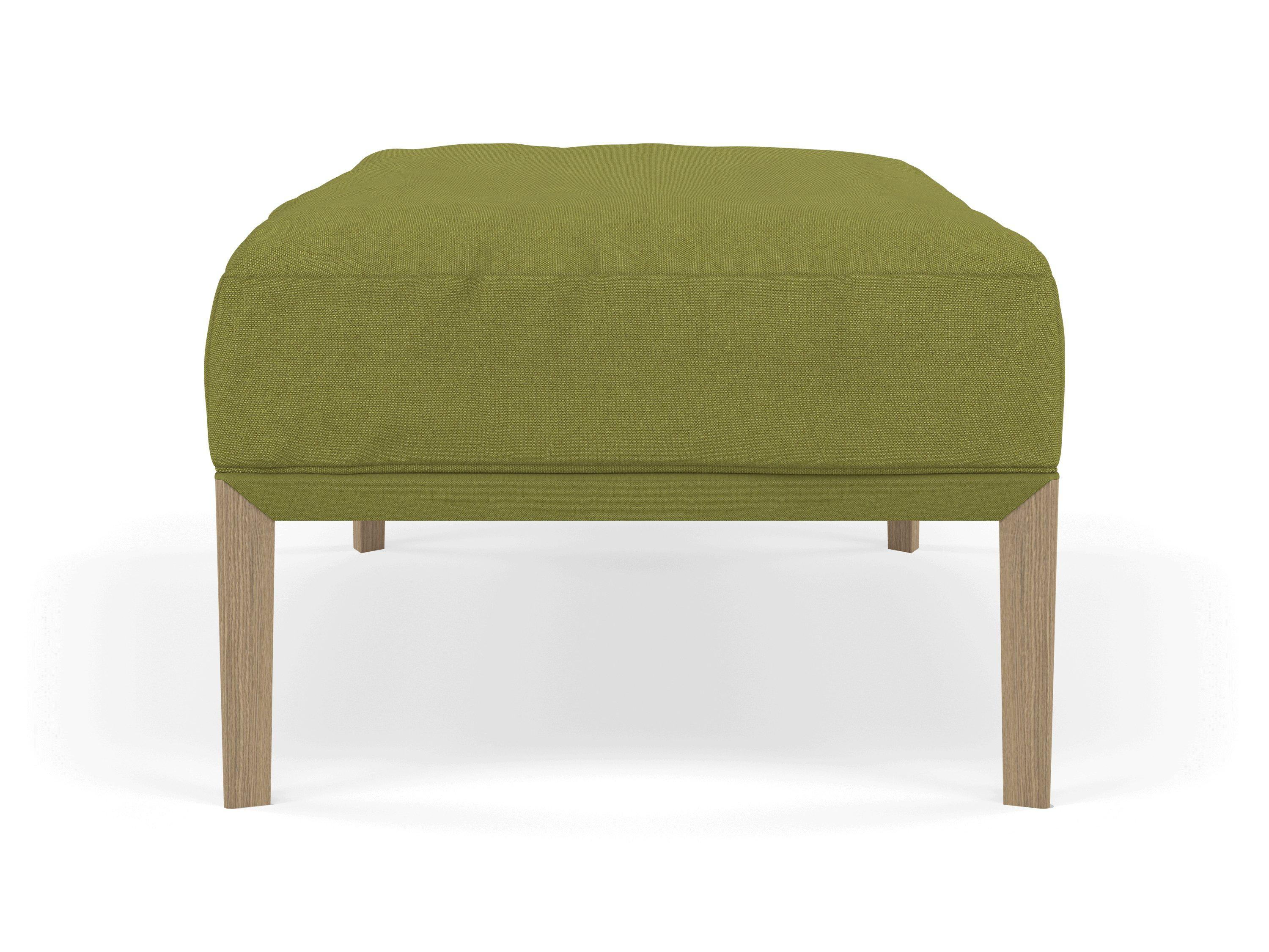 Modern Pouffe Footstool Ottoman Rectangular Seat 103X65Cm In Lime Green