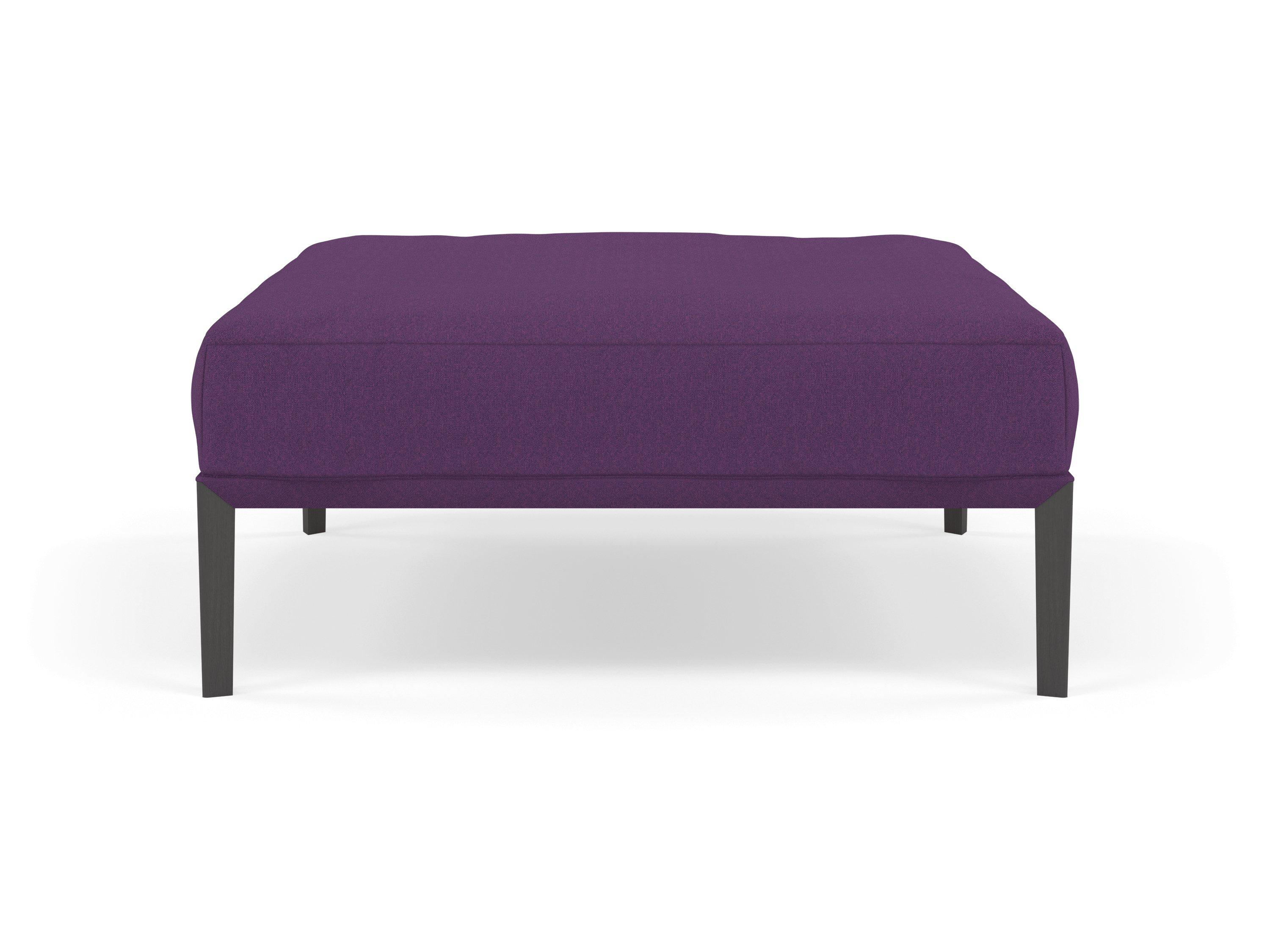 Miraculous Modern Pouffe Footstool Ottoman Square Seat 103X103Cm In Deep Purple Fabric Dailytribune Chair Design For Home Dailytribuneorg