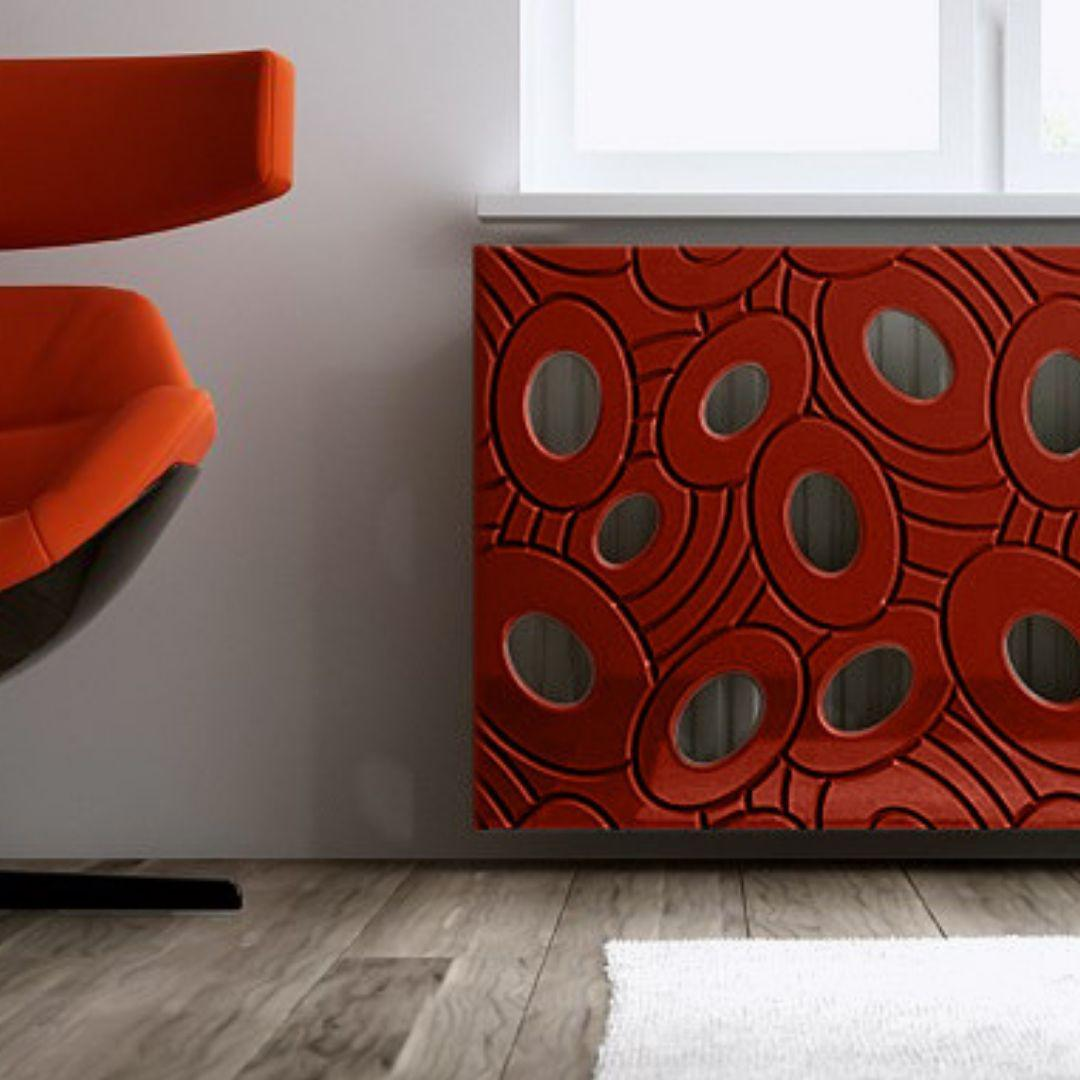 Sophisticated Removable Radiator Heater Cover with bold GALAXY Design HIGH GLOSS Finish & Colours-Distinct Designs (London) Ltd