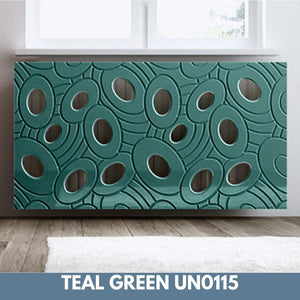 Sophisticated Removable Radiator Heater Cover with bold GALAXY Design in Satin MATT Finish & Colours-Teal Green Satin-70x90cm-Distinct Designs (London) Ltd