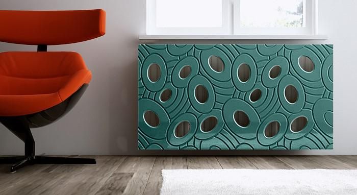 Sophisticated Removable Radiator Heater Cover with bold GALAXY Design in Satin MATT Finish & Colours-Distinct Designs (London) Ltd