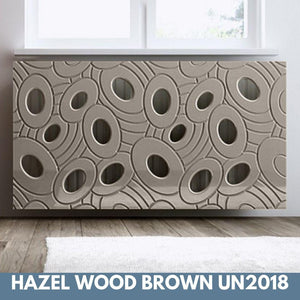 Sophisticated Removable Radiator Heater Cover with bold GALAXY Design in Satin MATT Finish & Colours-Hazel Wood Brown-70x90cm-Distinct Designs (London) Ltd