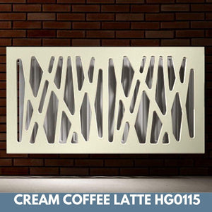 Stunning Removable Radiator Heater Cover with Futuristic GEO Design in HIGH GLOSS Finish & Colours-Coffee Latte Gloss-70x90cm-Distinct Designs (London) Ltd