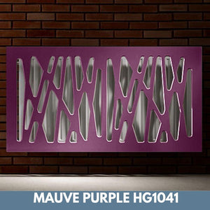 Stunning Removable Radiator Heater Cover with Futuristic GEO Design in HIGH GLOSS Finish & Colours-Mauve Purple Gloss-70x90cm-Distinct Designs (London) Ltd
