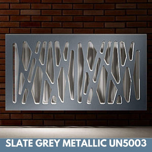 Stunning Removable Radiator Heater Cover with Futuristic GEO Design in SATIN MATT Finish & Colours-Slate Grey Metallic-70x90cm-Distinct Designs (London) Ltd