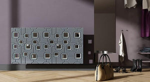 Bespoke Removable Radiator Heater Cover with geometric SATURN Design in SATIN MATT Finish & Colours-Distinct Designs (London) Ltd