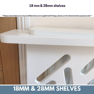 Radiator top shelf brackets concealed floating fixings suitable for 2.8cm thick shelves Pk 2-2 x Floating Bolts-Distinct Designs (London) Ltd