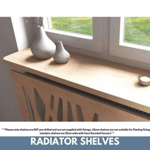 Made to Measure Rounded Radiator top shelf windowsill made with strong 1.8cm think material-Distinct Designs (London) Ltd