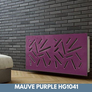 Modern Removable Radiator Cover with subtle STICKS Design HIGH GLOSS Finish & Colours-Mauve Purple Gloss-70x70cm-Distinct Designs (London) Ltd