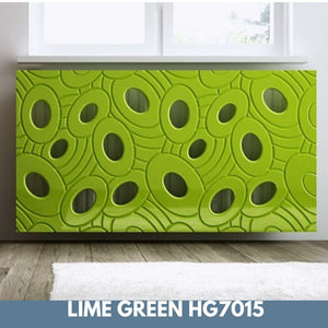 Sophisticated Removable Radiator Heater Cover with bold GALAXY Design HIGH GLOSS Finish & Colours-Lime Green Gloss-70x90cm-Distinct Designs (London) Ltd