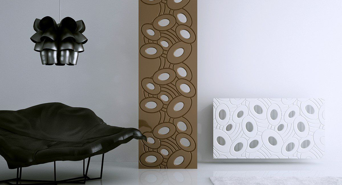 Sophisticated Radiator Cover bold GALAXY White 70 80 90 100 110 120 130 140 150 160 170 180cm long-Distinct Designs (London) Ltd