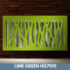 Stunning Removable Radiator Heater Cover with Futuristic GEO Design in HIGH GLOSS Finish & Colours-Lime Green Gloss-70x90cm-Distinct Designs (London) Ltd